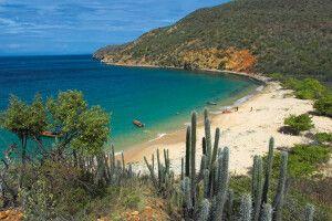 Bucht an der Karibikküste Venezuelas