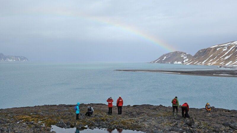 Regenbogen sind selten auf Spitzbergen © Diamir