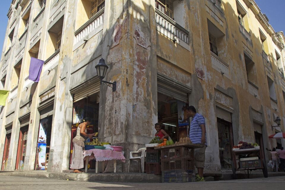 Straßenverkauf in Cartagena an der Karibikküste