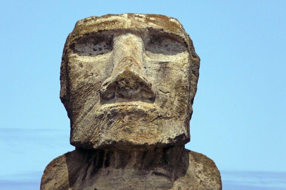 Moai in Nahaufnahme