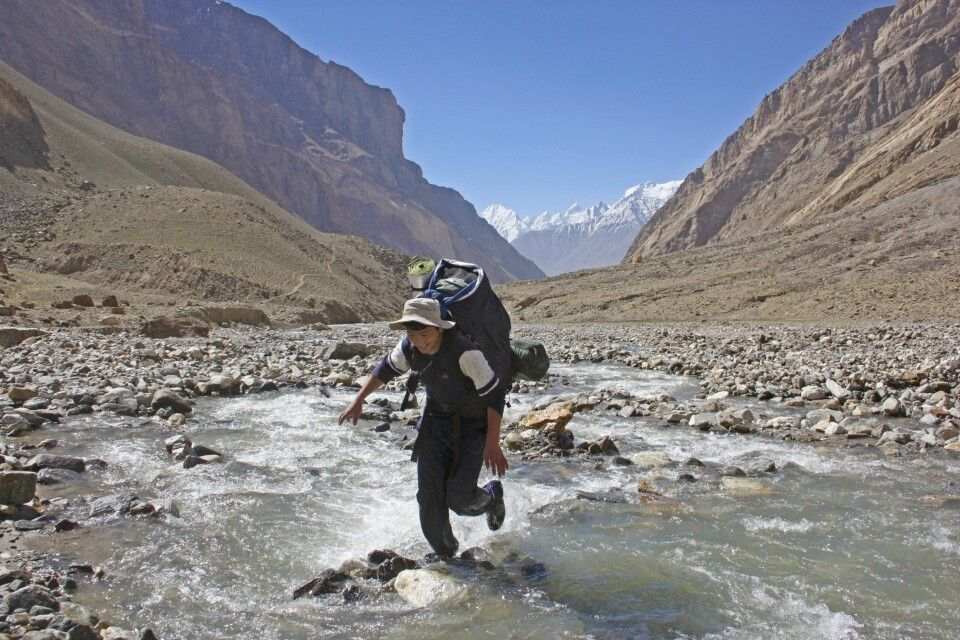 Trekking zum Vrang-Pass