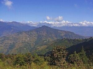 Helambu mit Langtang Himal im Hintergrund