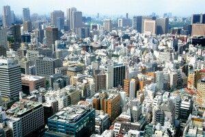 Blick vom Rathausturm in Tokio