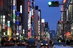 Ginzaviertel in Tokio