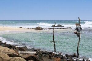 Stelzenfischer am Weligama Bay bei Mirissa