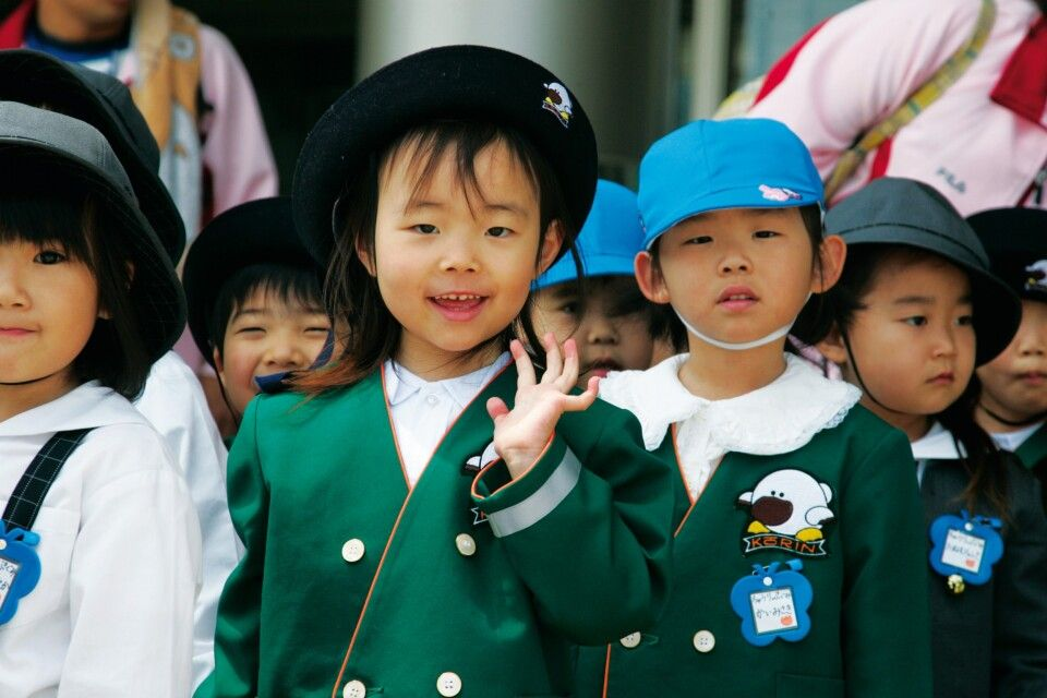 Kindergartengruppe in Nara