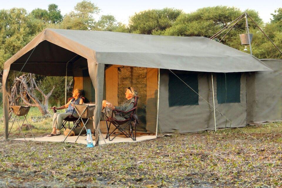 Tented Camp bei einer Safari mit Letaka