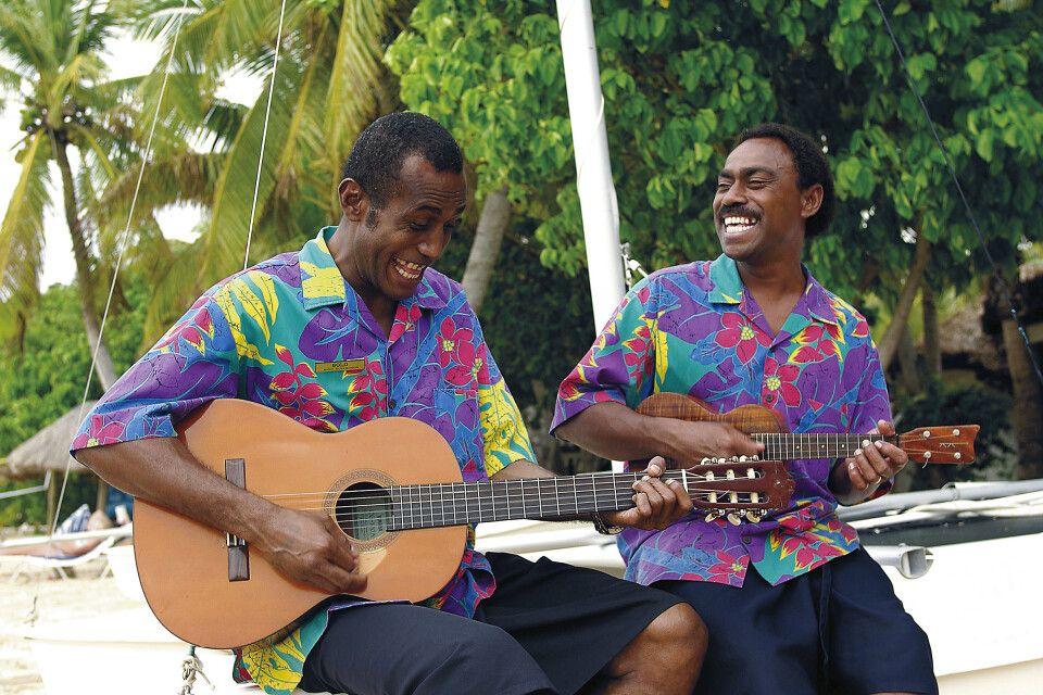 Empfang auf Fiji