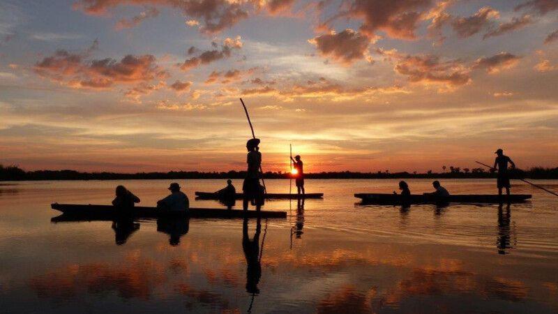 Sundowner-Bootsfahrt im Okavango-Delta © Diamir