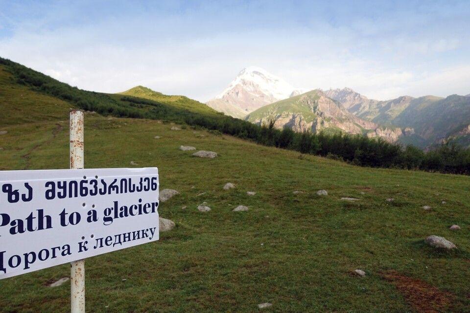 Weg Richtung Kasbek