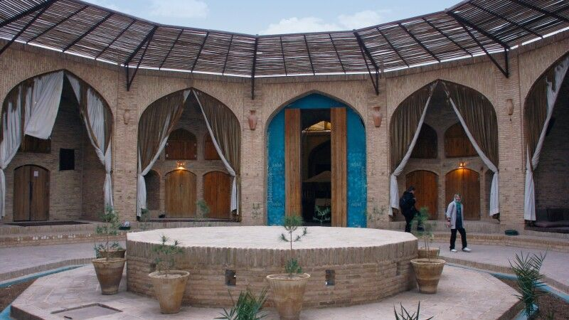 Karawanserei Zein al-Din Innenhof © Diamir