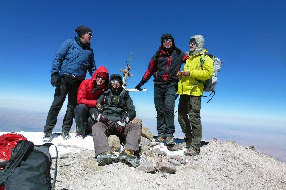 obligatorisches Gipfelfoto auf dem Chachani