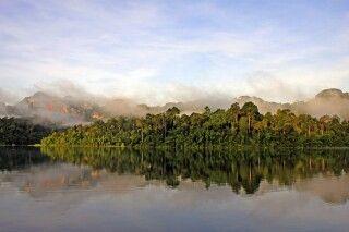 Flusslandschaft am Morgen