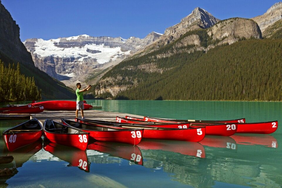 Der malerische Lake Louise im Banff NP