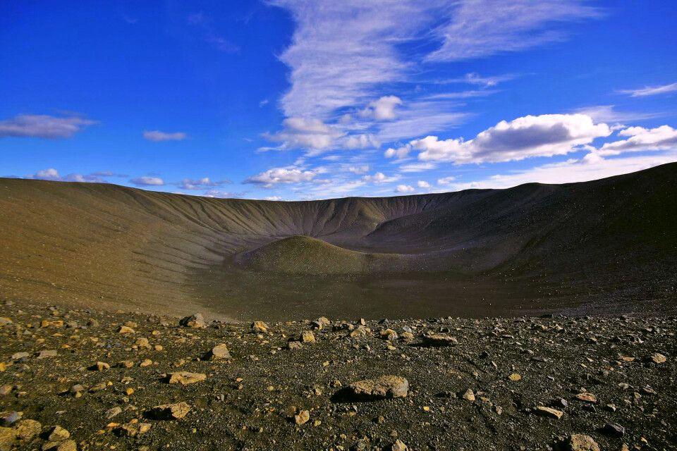 Blick in den Krater des Hverfjall-Vulkan