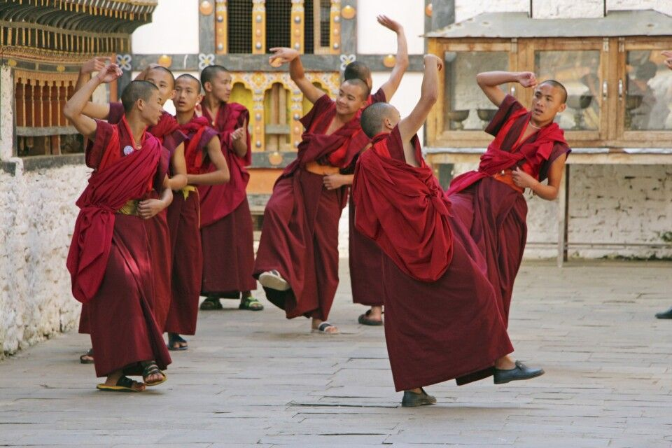 debattierende Mönche
