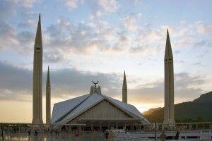 Die Faisalmoschee in Islamabad.