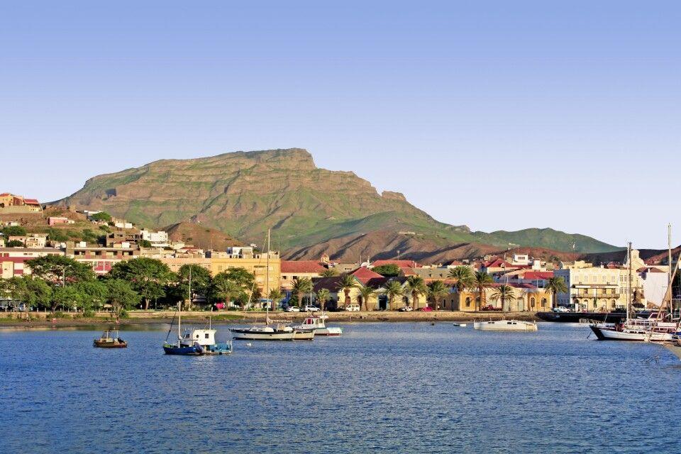 Blick auf den Hafen von Sao Vicente