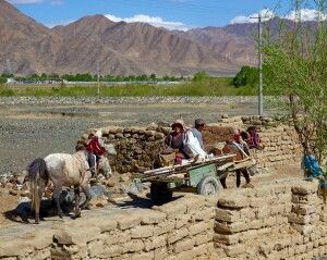 Bauern in Tibet