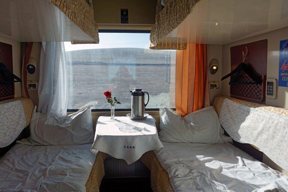 4-Bett-Abteil im Himmelszug nach Lhasa