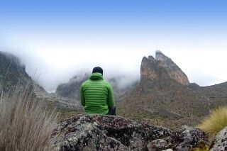 Trekking am Mount Kenya