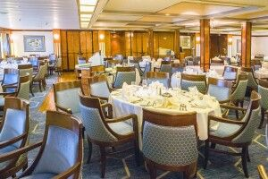 Im Restaurant der Sea Spirit