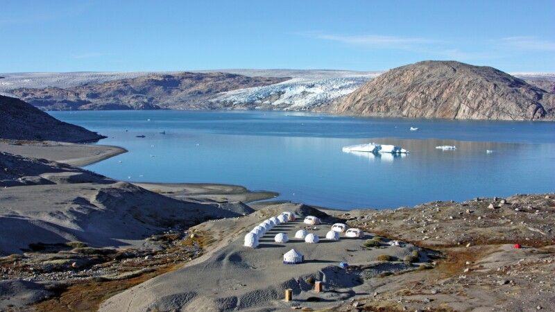 Gletschercamp mit Ausblick © Diamir