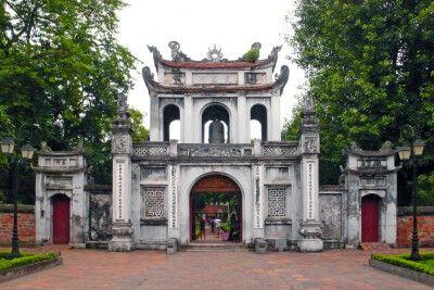 Pagode am Hoan-Kiem-See in Hanoi