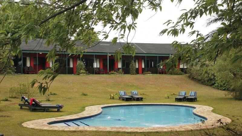 Swaziland, Foresters Arms, Garten, Pool © Diamir