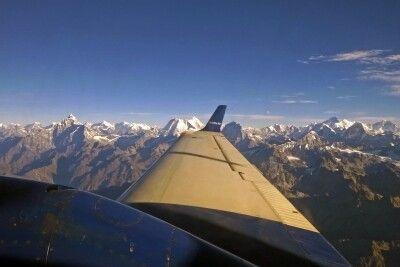 Panoramaflug von Pokhara nach Kathmandu
