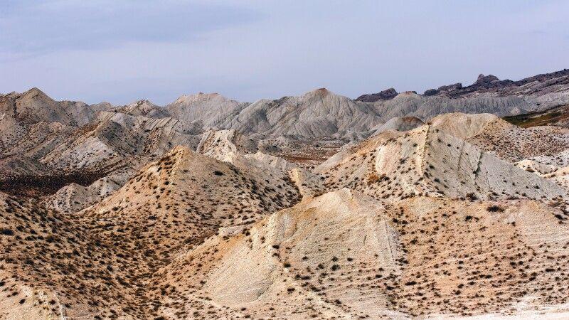 Mondlandschaften im Osten Turkmenistans © Diamir