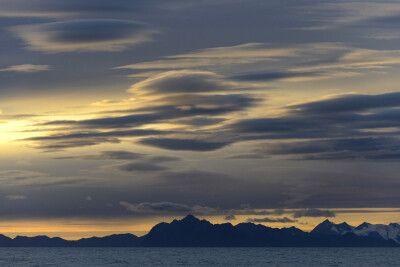 Abendstimmung im herbstlichen Spitzbergen
