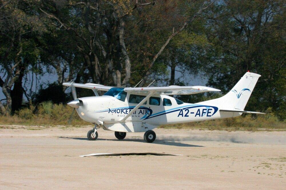 Flug zum Moremi Crossing Camp, Okavango-Delta, Botswana