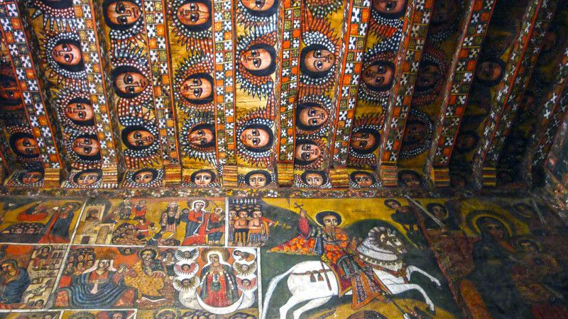 Debre Birhan Selassie Kirche in Gondar © Diamir