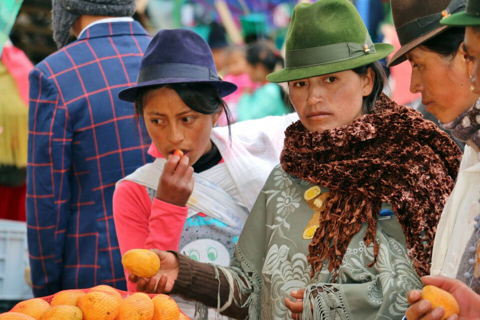 Marktleben in Ecuador