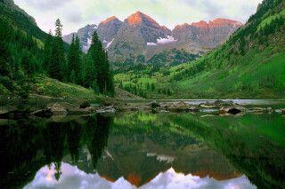 Maroon Bells bei Aspen, Colorado