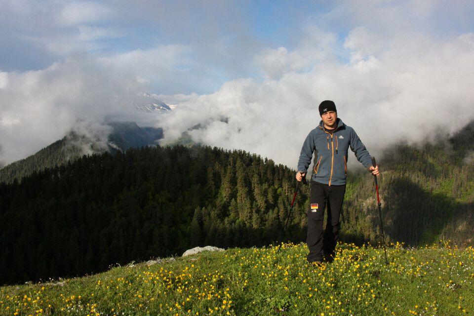 Einsamer Wanderer in Tuschetien