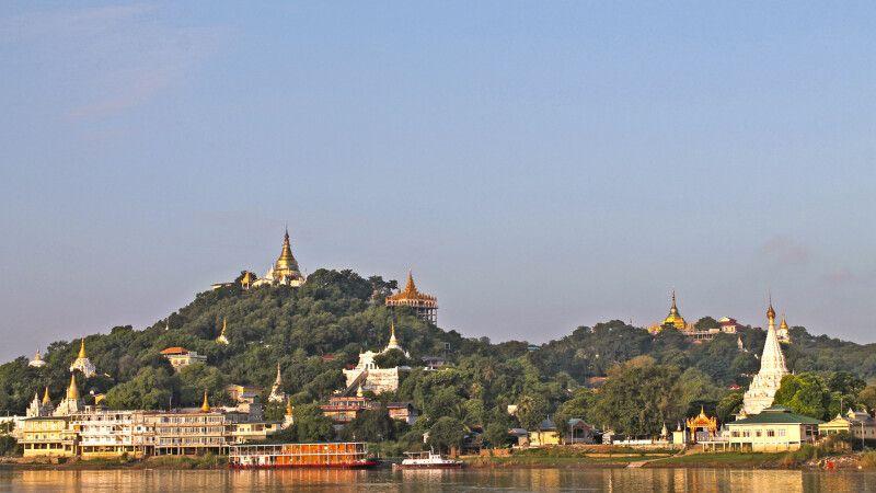 Blick auf das Ufer des mächtigen Irrawaddy © Diamir