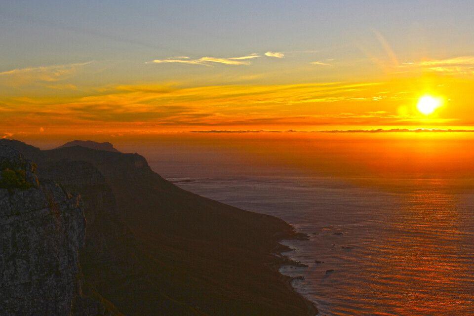 Sonnenuntergang über Kapstadt