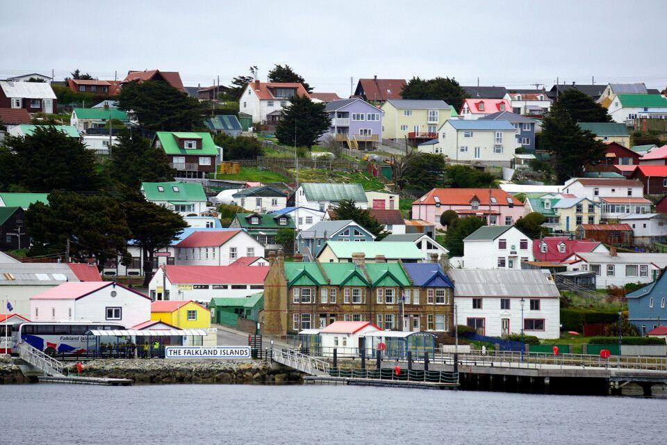 Die Hauptstadt der Falklands: Stanley