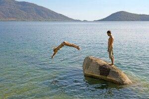 Badefreuden am Malawisee