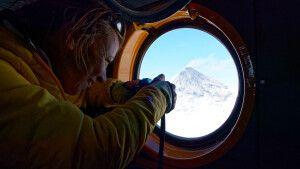 Fotografieren aus dem Helikopter