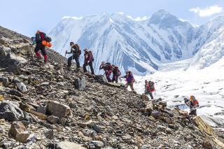 Aufstieg in 4360 m Höhe