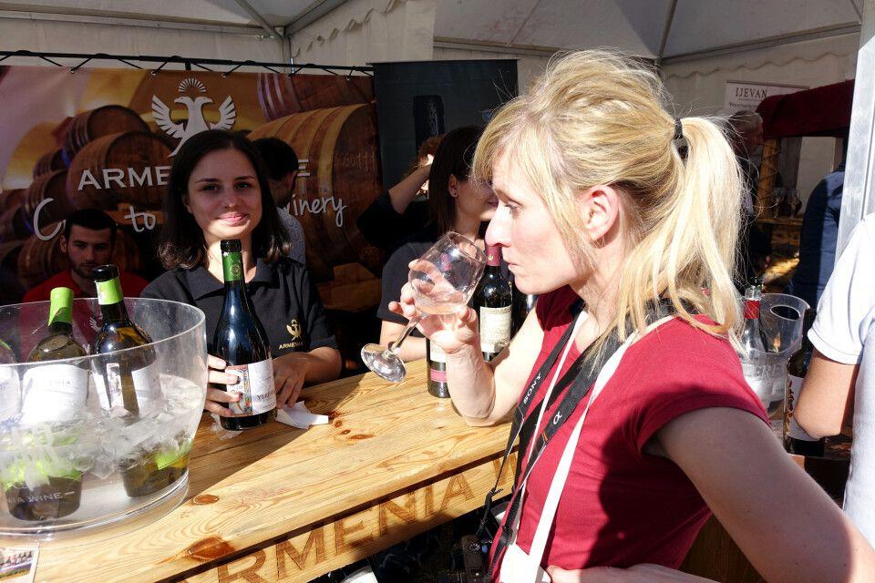 Weinverkostung in Areni