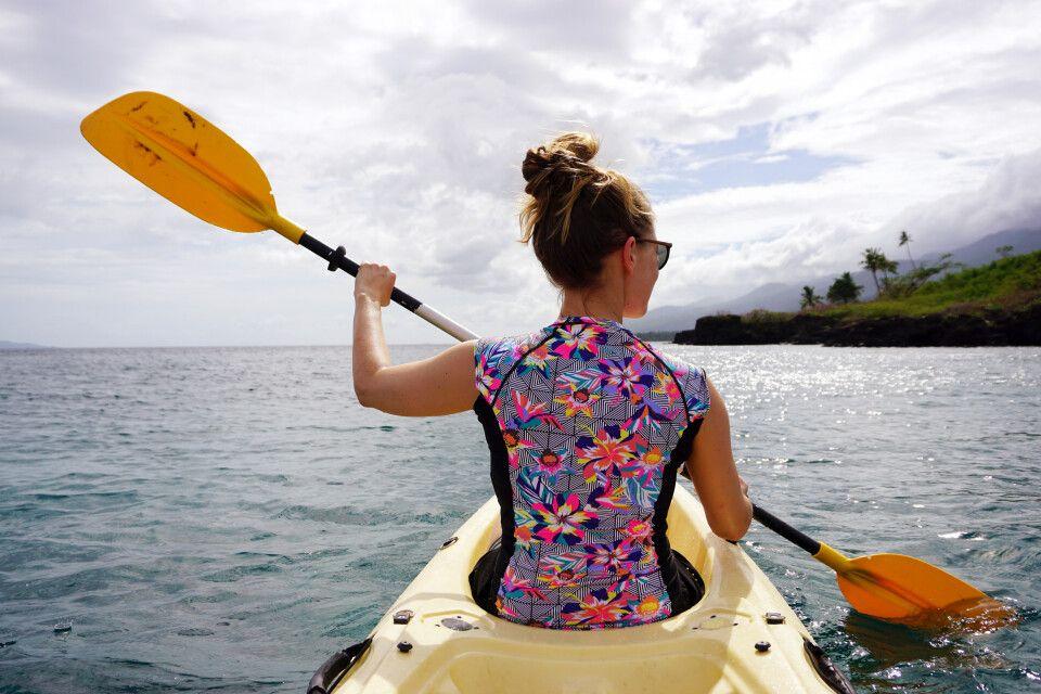 Kajakfahren in der Südsee