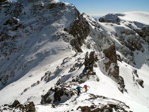 Die letzten Meter am Ras ohne Ski.