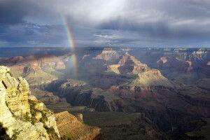 Regenbogen am Grand Canyon, Arizona