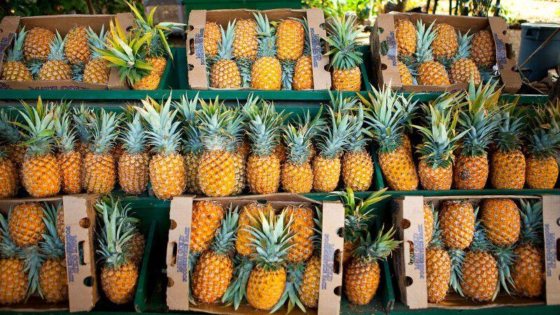 Ananas-Stand,Olowalu, Maui © Diamir