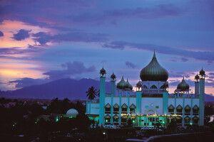 Moschee in Kuching, Hauptstadt des malaysischen Bundesstaates Sarawak