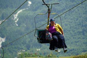 mit der Seilbahn im Kaukasus unterwegs
